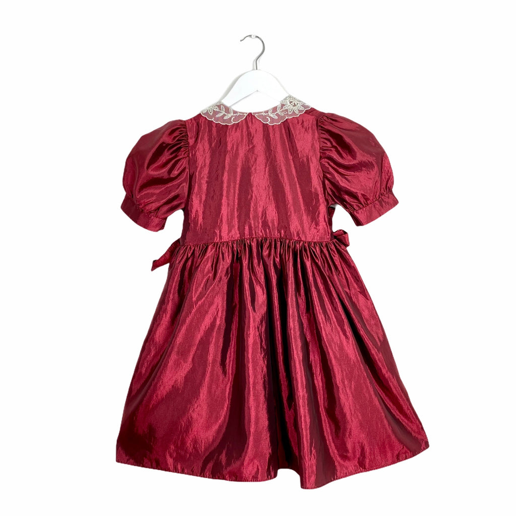 Fabulous Rouge Taffeta Party Dress