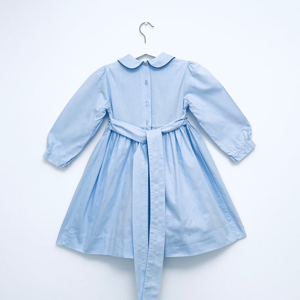 A Royal Smocked Dress in Blue
