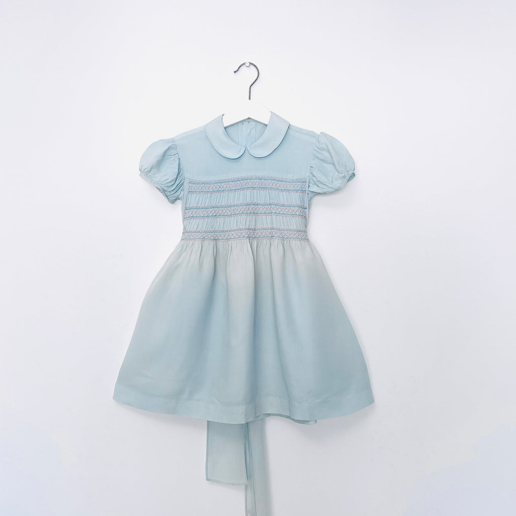 Vintage Fifties Mint Green Smocked Dress