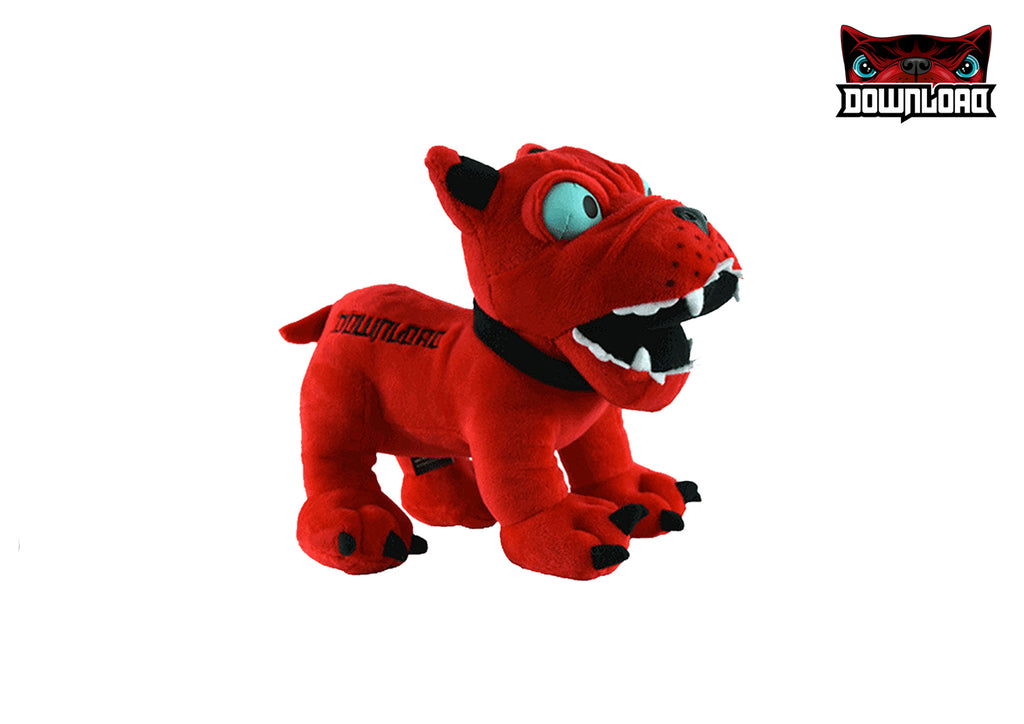 RED PLUSH DOG