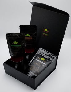 Loose Leaf Tea Gift Box with Peppermint Green, Chocolate and Holiday Teas and Mugs inside