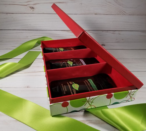 Loose Leaf Tea Gift Set - Happy Holidays - Side View