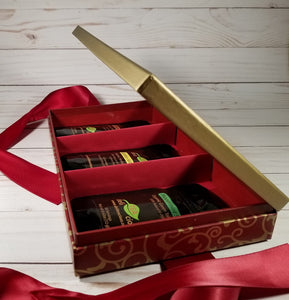 Loose Leaf Tea Gift Set - Elegant Red - Side View