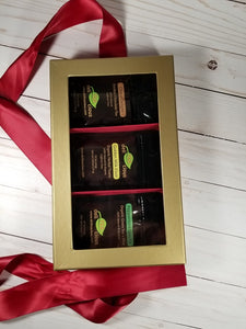 Loose Leaf Tea Gift Set - Elegant Red - Top View
