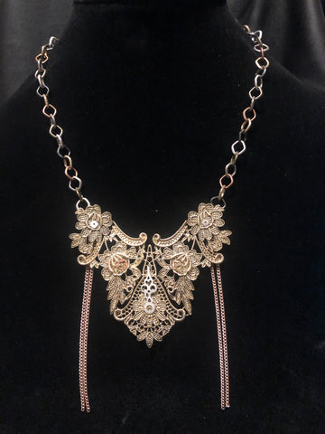 "Steampunk ""Appliqué"" Necklace 2"