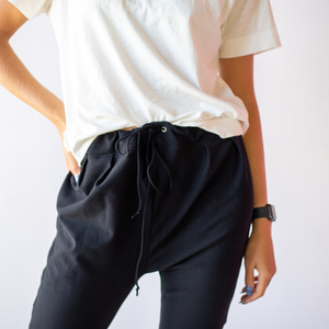 Front view of casual pants from Bliss + Chaos womens online clothing store