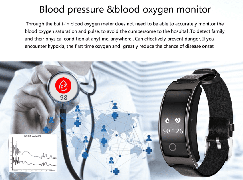 #1 Blood Pressure Smart Watch - Heart Rate, Blood Oxygen, Sleep, Fitness Tracker