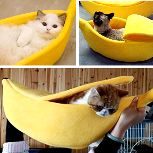 Banana Cave Pet Bed