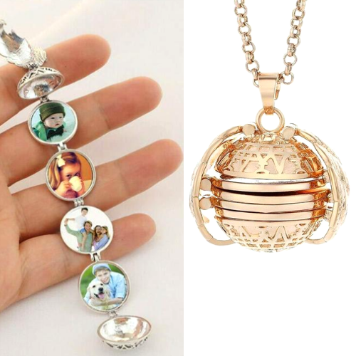 4 Picture Locket Necklace