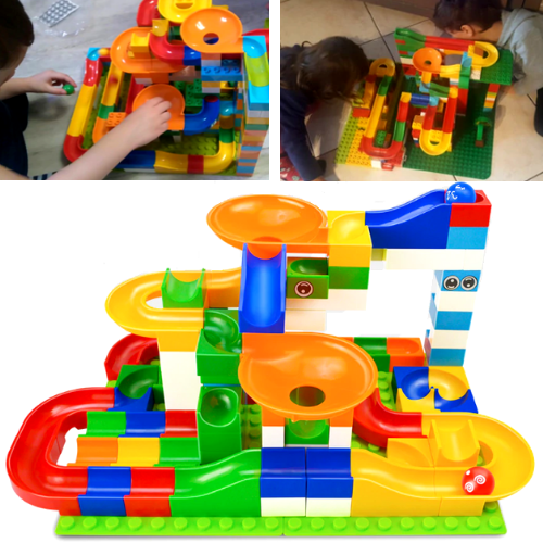 Marble Race Game - Educational Building Blocks Toy