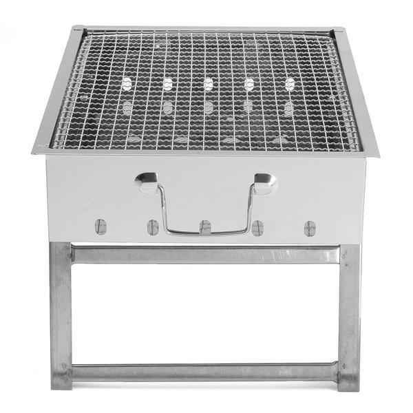 Portable Stainless Steel Charcoal Grill - Outdoor