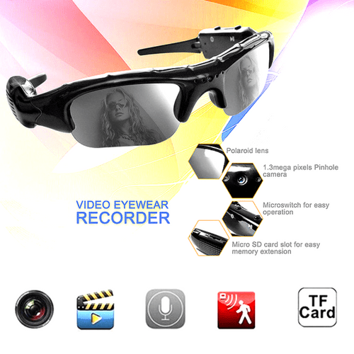 HD Camcorder Sunglasses - Recording Glasses
