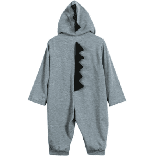 Cute Hooded Dinosaur Romper