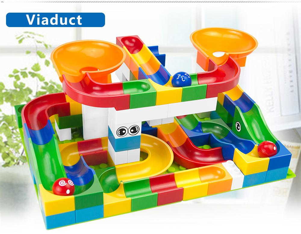 Duplo Building Marble Race Run Maze Ball Track Block Bricks Develop Imagination