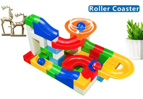 Original Marble Race Game - Educational Building Blocks Toy