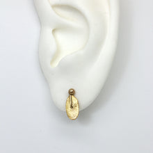 Load image into Gallery viewer, Oval gold sequin stud earrings by Tamara Gomez