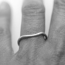 Load image into Gallery viewer, Curved wedding ring 18ct white gold 1.5mm wide by Tamara Gomez