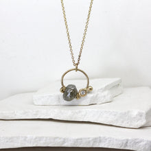 Load image into Gallery viewer, Rough diamond charm necklace in yellow gold by Tamara Gomez
