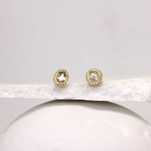 Load image into Gallery viewer, Rough diamond stud earrings in yellow gold by Tamara Gomez