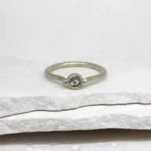 Load image into Gallery viewer, 0.35ct rough diamond ring in white gold by Tamara Gomez