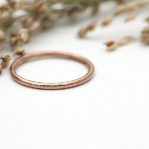9ct rose gold wedding ring 1.5mm wide