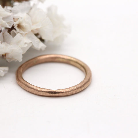 9ct rose gold wedding ring 2mm wide