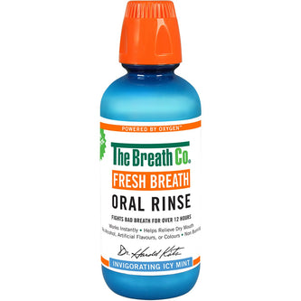 Image: The Breath Co Fresh Breath Icy Mint Oral Rinse 500ml