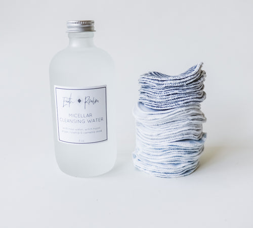 Lavender Micellar Water with Organic cotton reusable pads set