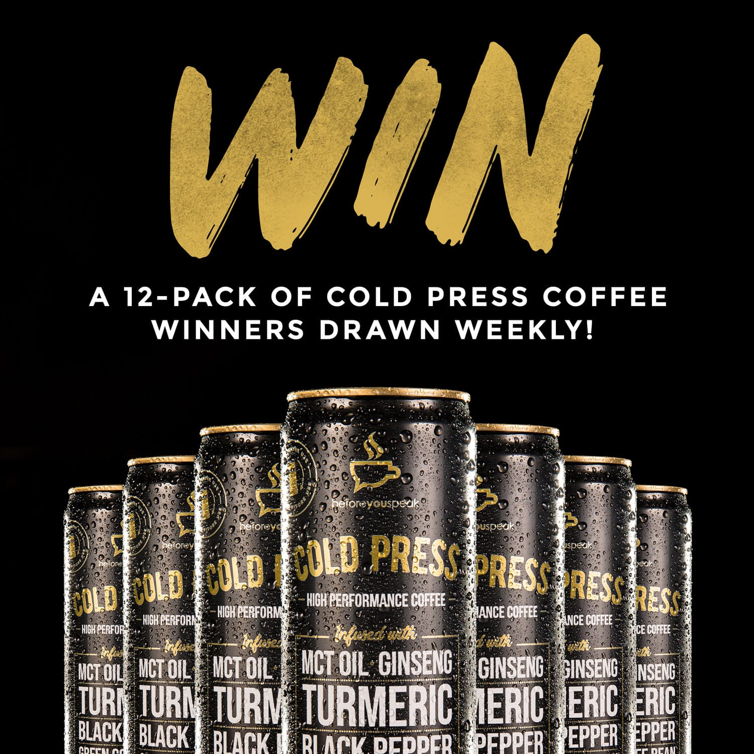 Win a 12-pack of Cold Press Coffee