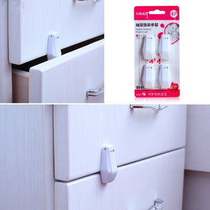 4pcs/pack Baby Safety Drawer Locks Anti Pinch Hand Baby Safety Security Seguridad Infantil Kids  Safety Products ATRQ0473