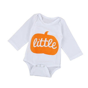 2017 Halloween Style Pumpkin Print Rompers Baby Boys Girls Long Sleeve Letter Romper Jumpsuit Newborn Cotton Clothes Outfits