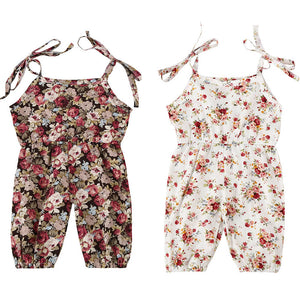 Cute Newborn Baby Girls Clothing Romper Sleeveless Cute Flower Summer Playsuit Outfit Baby Girl Rompers 6-24M