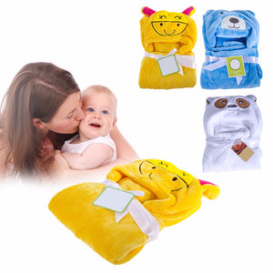 Baby Blanket Hold Flannel 3D Hooded Blanket Swaddle For Baby Envelope For Newborns Bathrobe Towel Baby Bedding Linens
