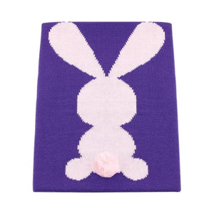 Cute Big Rabbit Ear Baby Swaddle Blanket Soft Warm Knitted Swaddle Kids Bath Towel Baby Bedding Props Blankets