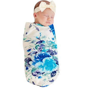 Baby Swaddle Wrap Blanket Newborn Baby Infant Flowers Pattern Care Sleeping Cover Winter Kids Muslin Blanket Towel
