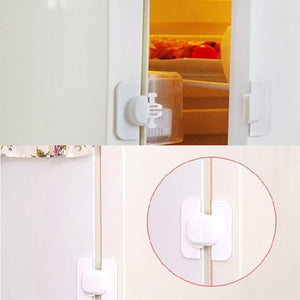 Child Baby Drawer Safety Lock Kids Door Fridge Safety Locks Toilet Closet Plastic Lock rotection from Children Newbrons