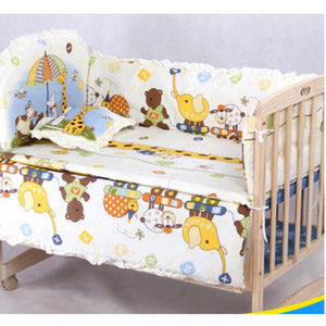 100*58cm/110*60cm 5pcs/Set Promotion Cotton Baby Children Bedding Set Comfortable  Crib Bumper Baby Organizer Cot Kit