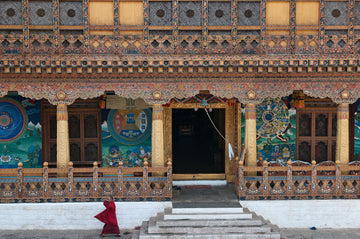 Entrance to the Temple, Punakha Dzong, Bhutan