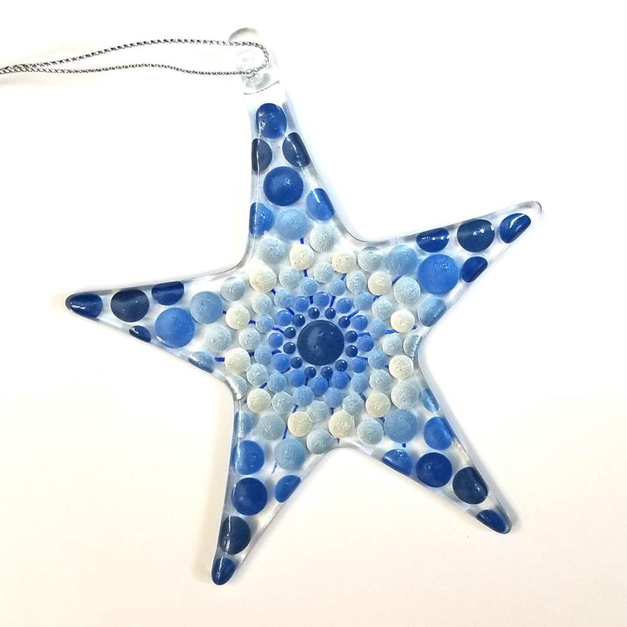 Star Mandala Ornament - Blue