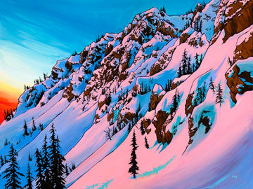 Alpenglow Original Painting