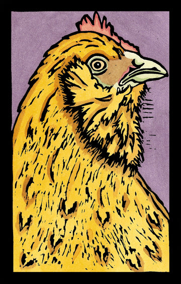 Chicken Original Linocut