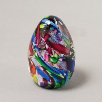 Dichroic Egg Paperweight - Festival