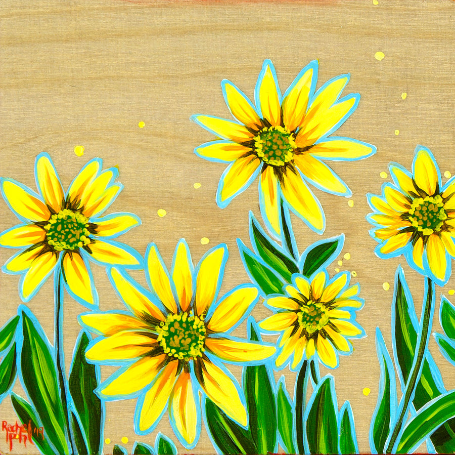 Arnica on Wood Original Painting