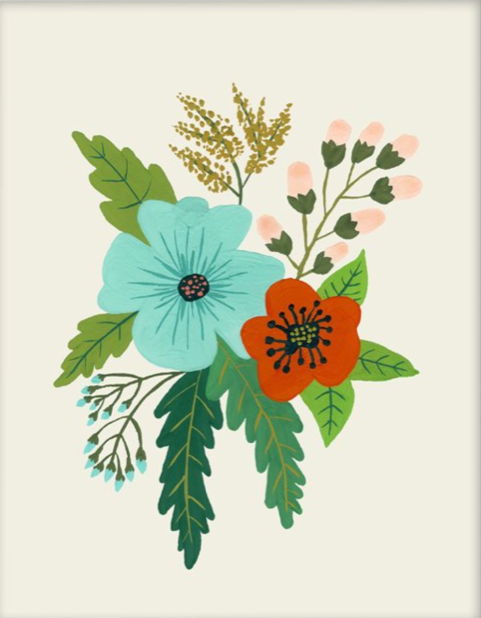 Folk Art Flowers No. 5