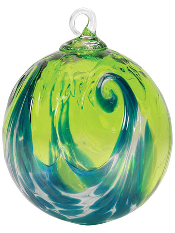 Aqua Wave Ornament