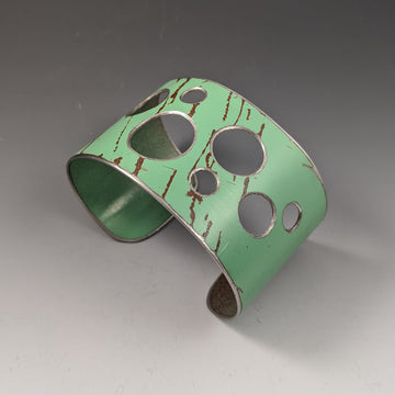 Green Holey Cuff