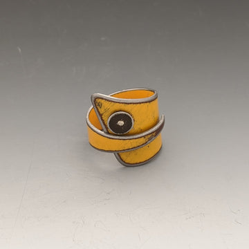 Ring - Yellow with Brown Dot