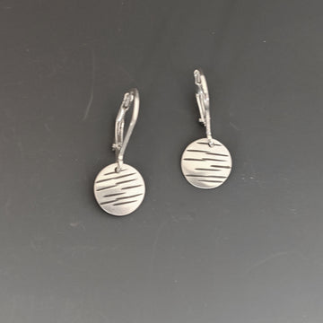 Stamped Disk Earrings - Small