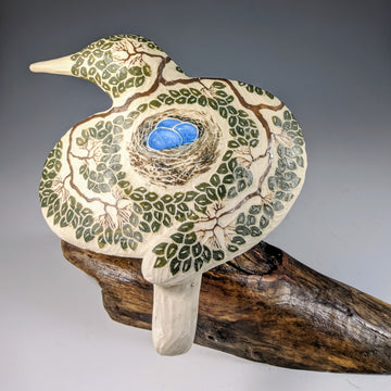 Nest Carved Bird #693