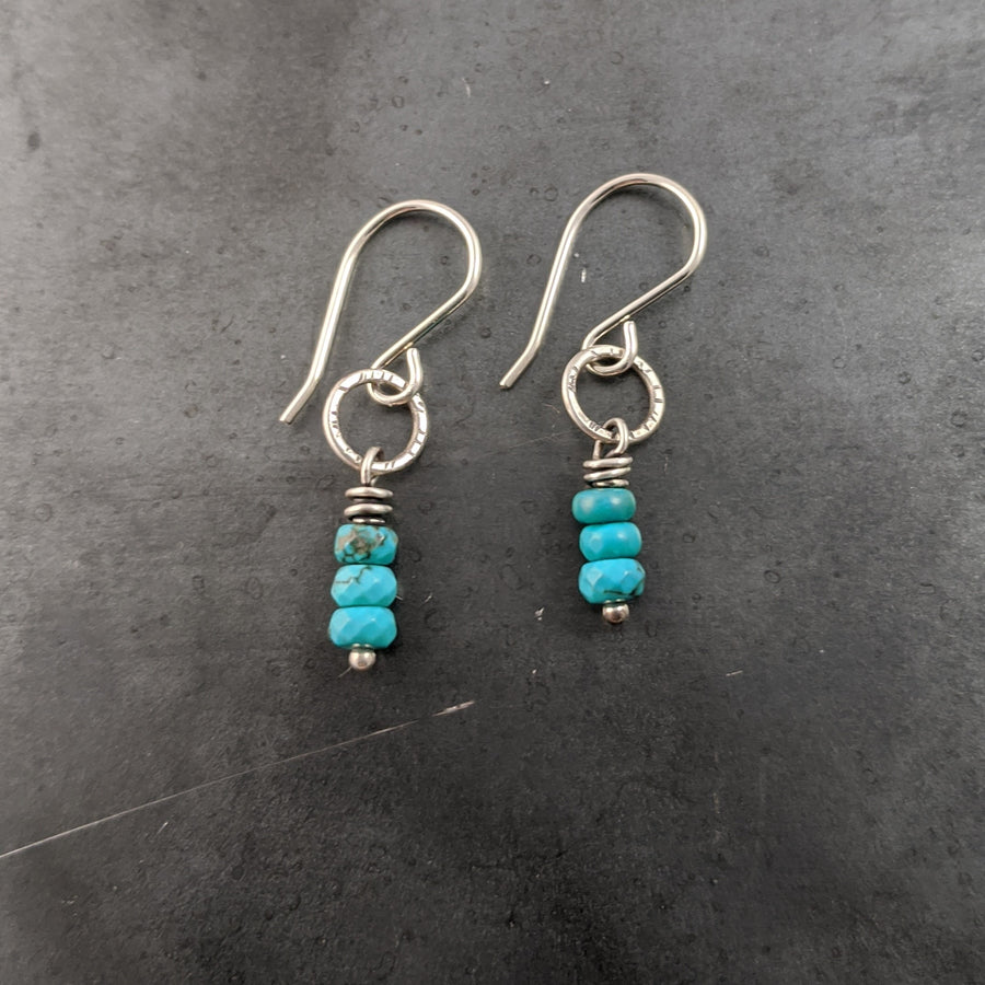 Tiny Earrings with Turquoise